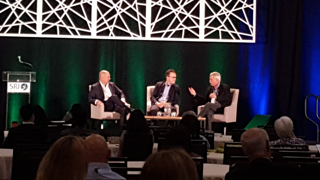 Mykleby, Doherty, and Makower speaking at the 2016 SRI Conference. Courtesy www.sriconference.com